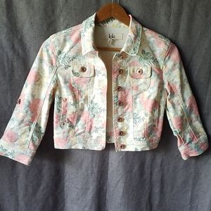 Crop Floral Summer Jacket.